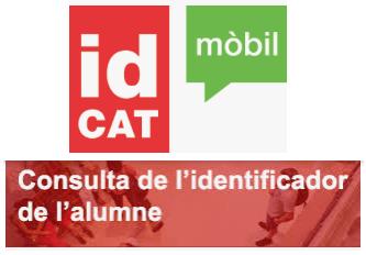 Com obtenir idCAT Mòbil i idalu de l'alumne/a