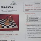 SEQUENCES: Working on Maths and English together