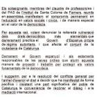 Manifest per la democràcia - INS de Santa Coloma de Farners